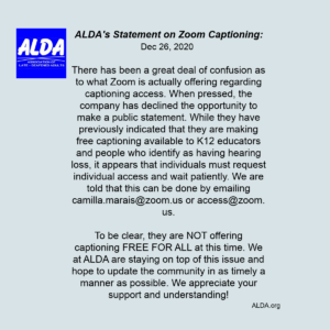 ALDA Zoom captioning